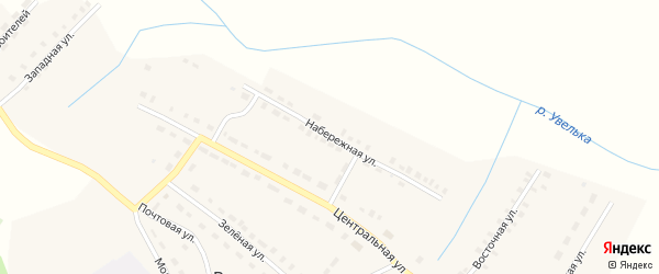 Набережная улица на карте поселка Родники с номерами домов