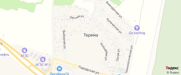 Технологическая улица на карте поселка Терема с номерами домов