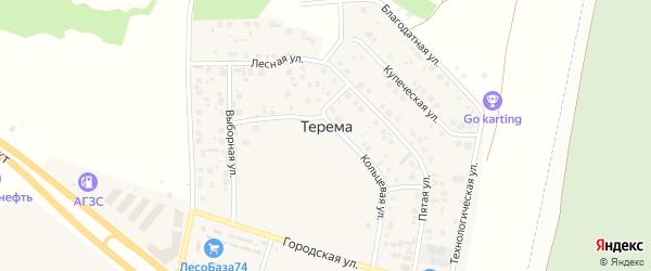 Благодатная улица на карте поселка Терема с номерами домов