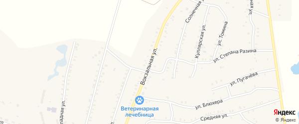 Вокзальная улица на карте Красногорского поселка с номерами домов