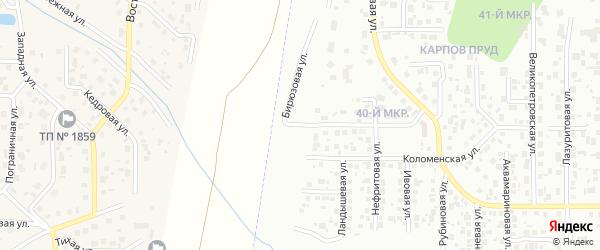 Бирюзовая улица на карте Челябинска с номерами домов