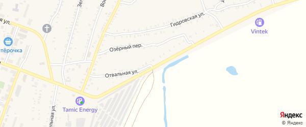 Отвальная улица на карте Красногорского поселка с номерами домов
