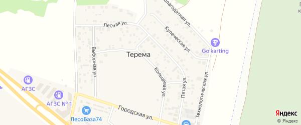 Кольцевая улица на карте поселка Терема с номерами домов