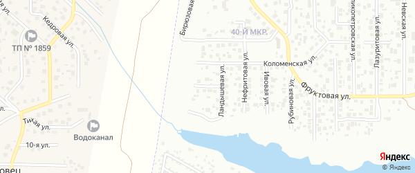 Фиалковая улица на карте Челябинска с номерами домов