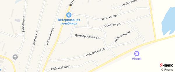 Домбаровская улица на карте Красногорского поселка с номерами домов