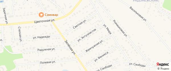 Улица Энтузиастов на карте Северного поселка с номерами домов