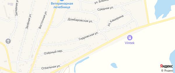 Гидровская улица на карте Красногорского поселка с номерами домов