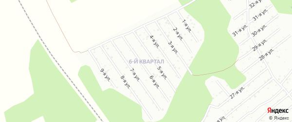 СНТ Березка на карте Кыштыма с номерами домов