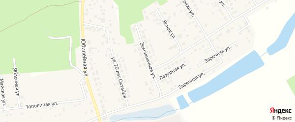 Земляничная улица на карте поселка Саргазы с номерами домов