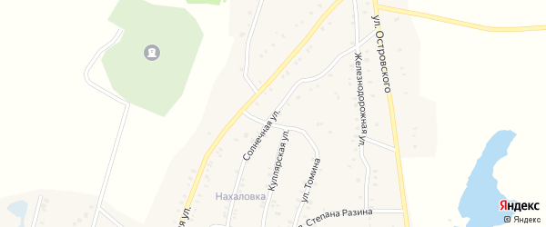Солнечная улица на карте Красногорского поселка с номерами домов
