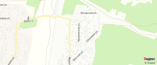Аркаимская улица на карте Челябинска с номерами домов
