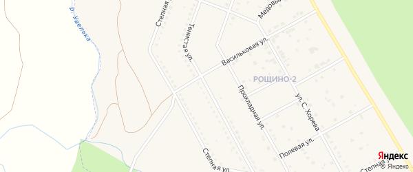 Тенистая улица на карте Южноуральска с номерами домов