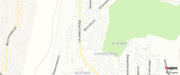 Шуйская улица на карте Челябинска с номерами домов