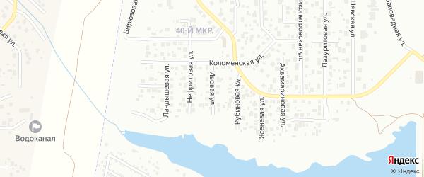 Ивовая улица на карте Челябинска с номерами домов