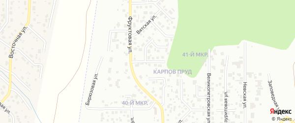 Кунгурская улица на карте Челябинска с номерами домов