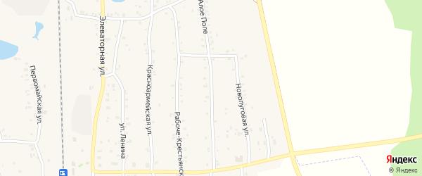 Улица Алое Поле на карте Зауральского поселка с номерами домов