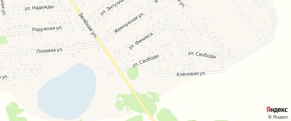 Улица Свободы на карте поселка Красного Поля с номерами домов