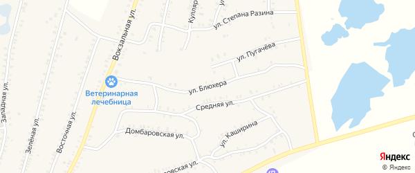 Улица Блюхера на карте Красногорского поселка с номерами домов