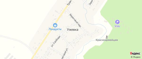 Заречная улица на карте деревни Ужевки с номерами домов
