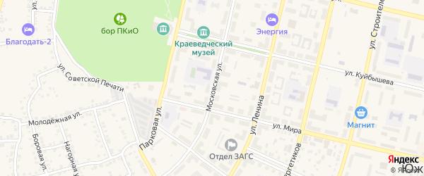 Московская улица на карте Южноуральска с номерами домов