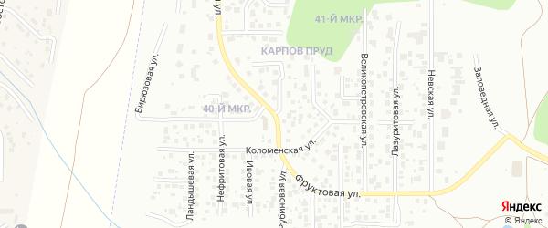 Фруктовая улица на карте Челябинска с номерами домов