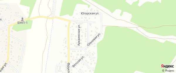 Снежинская улица на карте Челябинска с номерами домов