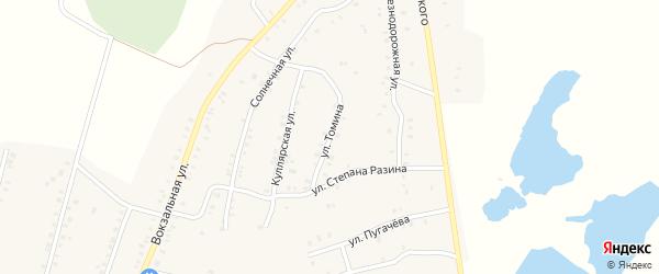 Улица Томина на карте Красногорского поселка с номерами домов