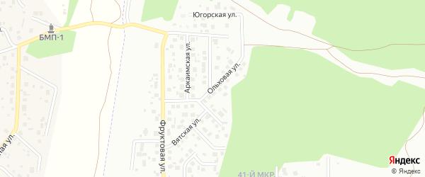 Ольховая улица на карте Челябинска с номерами домов