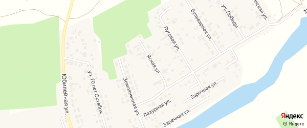 Ясная улица на карте поселка Саргазы с номерами домов
