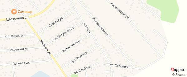 Улица Мира на карте поселка Красного Поля с номерами домов