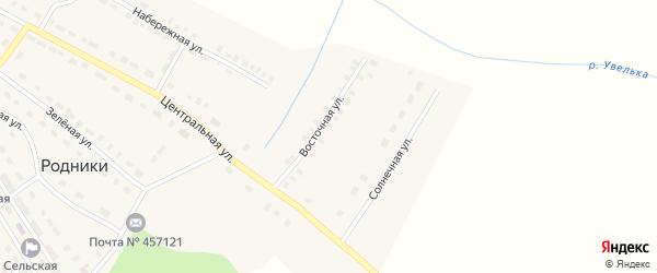 Восточная улица на карте поселка Родники с номерами домов