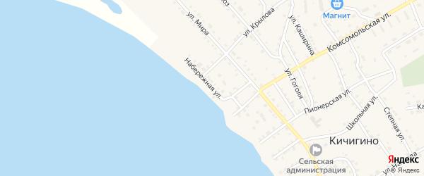 Набережная улица на карте села Кичигино с номерами домов