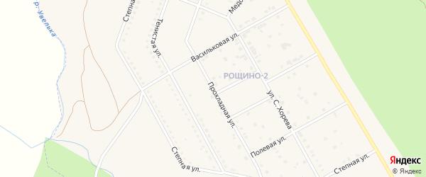 Прохладная улица на карте Южноуральска с номерами домов