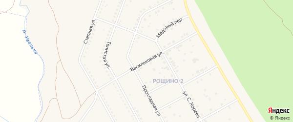 Васильковая улица на карте Южноуральска с номерами домов