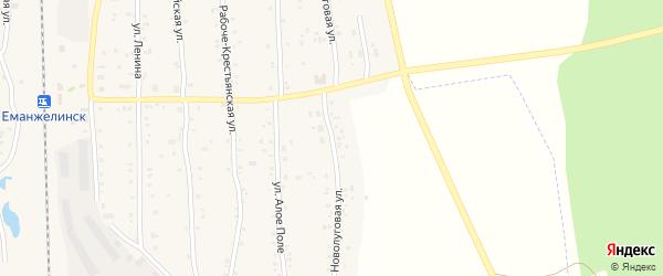 Новолуговая улица на карте Зауральского поселка с номерами домов