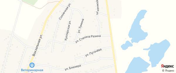 Переулок Степана Разина на карте Красногорского поселка с номерами домов