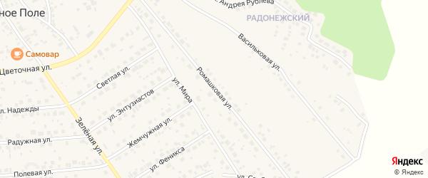 Ромашковая улица на карте поселка Красного Поля с номерами домов