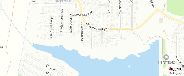 Ясеневая улица на карте Челябинска с номерами домов