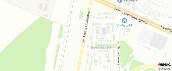 Улица Петра Столыпина на карте Челябинска с номерами домов