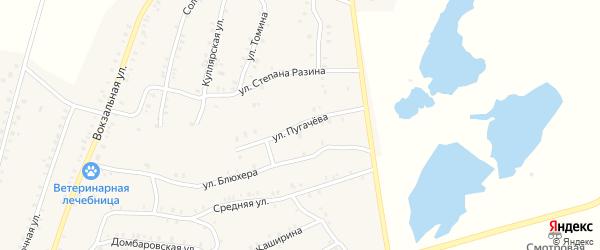 Улица Пугачева на карте Красногорского поселка с номерами домов