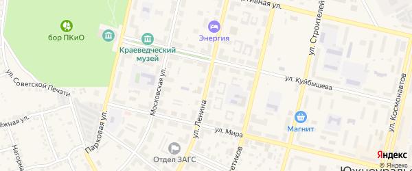 Улица Ленина на карте Южноуральска с номерами домов