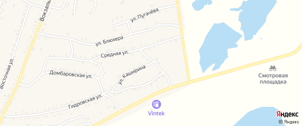Улица Каширина на карте Красногорского поселка с номерами домов
