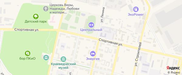 Спортивная улица на карте Южноуральска с номерами домов
