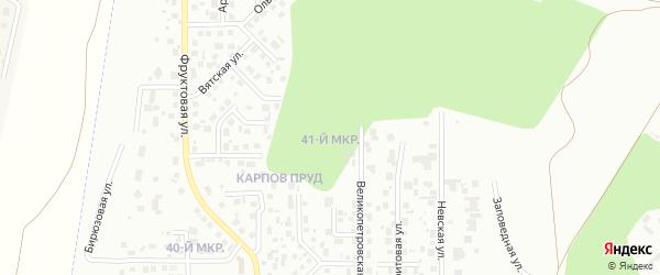 41-й микрорайон на карте Челябинска с номерами домов