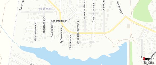 Аквамариновая улица на карте Челябинска с номерами домов