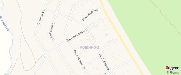 Улица Хорева на карте Южноуральска с номерами домов