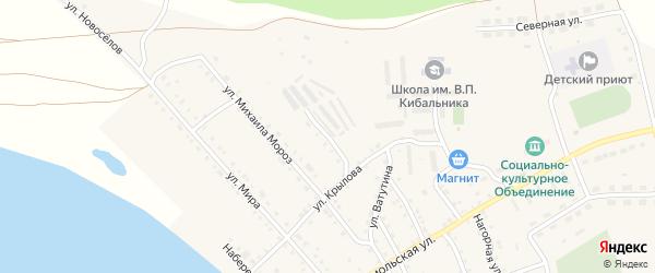 Коллективный переулок на карте села Кичигино с номерами домов