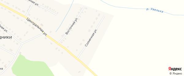 Солнечная улица на карте поселка Родники с номерами домов