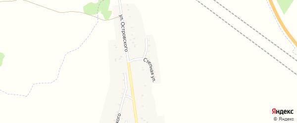 Полевая улица на карте Красногорского поселка с номерами домов