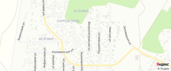 Агатовая улица на карте Челябинска с номерами домов